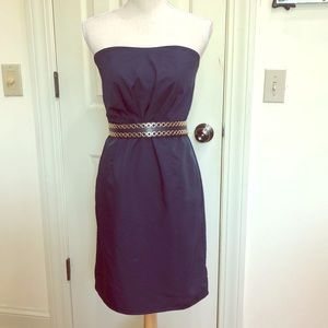 Tevolio Blue Strapless Dress